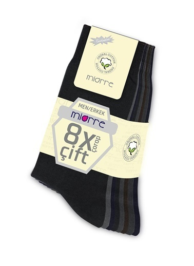 Miorre 8 'Li Erkek Çorabı Renkli